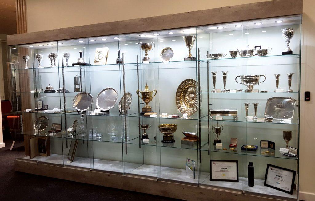 bespoke trophy cabinet