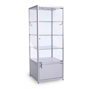 square aluminium display cabinet