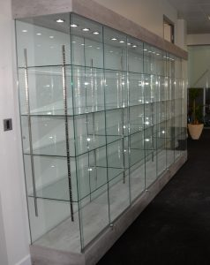 bespoke glass dis[play cabinet