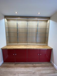 Collectors wall cabinets